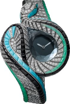 High Jewelry Serpent d'Eau Mystérieux watch http://www.thesterlingsilver.com/product/accurist-ladies-crystal-set-white-ceramic-bracelet-watch-with-rose-gold-lb1751w/