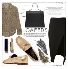 """""""Fall Footwear Trends : Loafers"""" by alinnas ❤ liked on Polyvore featuring David Koma, Mes Demoiselles..., Tod's, Industrie, Chanel and Paperself"""