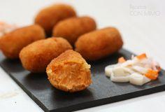 Croquetas de Pimientos del piquillo, Surimi y Atún (#Asaltablogs) ~ Recetas con Mimo