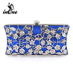 INONE™ Women's Flower Clutches Wedding Special Occasion Clutch Evening Bag – USD $ 24.49