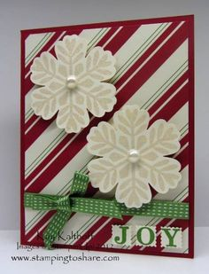 stampin up card ideas | Stampin Up Card ideas / Bold Snowflakes