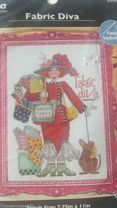 Fabric Diva Plaid Bucilla Counted Cross Stitch Kit Alma Lynne WM45620 New #bucilla