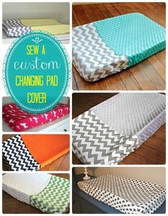 Here's a great tutorial on how to make a custom changing pad cover for your baby's nursery.