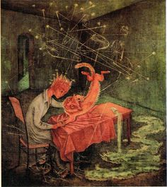 Remedios Varo, Simpatia, 1955. Oil on masonite.