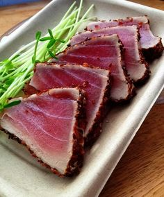 Seared Tuna Plate from the Delicatessen@GreenStar. Available on the West End sushi case. by GreenStarCo-op, via Flickr