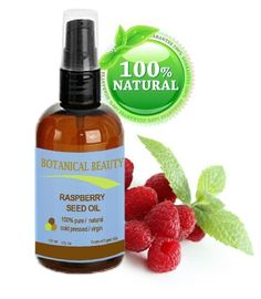 RASPBERRY SEED OIL 100% Pure / Natural / Virgin. Cold Pressed / Undiluted. For Face, Hair and Body. 4 Fl.oz.- 120 ml. by Botanical Beauty by Botanical Beauty. $27.95
