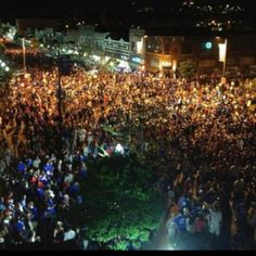 Mass street in Lawrence last night after the win over Ohio...Crazy but awesome!!