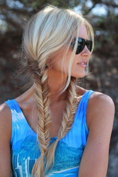 Cool And Must-Have Summer Hairstyles For Women; Must-Have Summer Hairstyles; Summer Hairstyles For Women; Fishtail Braid Hairstyles, Cool Hairstyles, Pigtail Hairstyles, Trending Hairstyles, Latest Hairstyles, Messy Fishtail, Fashion Hairstyles, Updo Hairstyle, Everyday Hairstyles