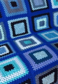 Newest Free of Charge Crochet Blanket blue Suggestions Here's an amount of cro. Newest Free of Charge Crochet Blanket blue Suggestions Here's an amount of crochet guidelines to Crochet Lace Edging, Crochet Square Patterns, Crochet Quilt, Crochet Squares, Crochet Blanket Patterns, Bead Crochet, Crochet Granny, Granny Square Blanket, Blue Blanket