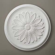 Plaster Ceiling Rose Medium Acanthus Leaf Design 490mm