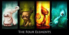 four elements | Element Ikons » 4 Elements, by Shoze