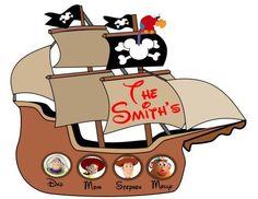 Custom Disney Cruise Line Pirate Stateroom Door Magnet