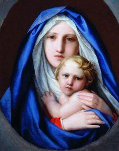 Virgin and Child - F. Bruni