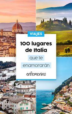 ¿Recorremos Italia? Estos son los lugares que no te puedes perder. #Italia #viajes #travel