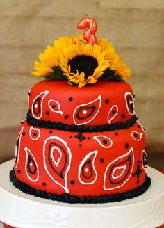 Country western bandanna cake