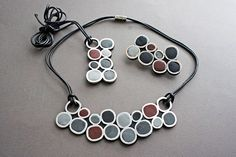 DIY Polymer Clay Circles Necklace Tutoial
