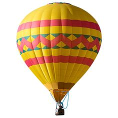 This cutout hot air balloon is cutout and ready to go in your image.