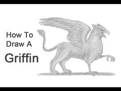 How to Draw a Griffin (Gryphon) Comic Strip Template, Comic Strips, Animal Drawings, Art Drawings, Step By Step Drawing, Teaching Art, Draw Animals, Griffins, Drawing Tutorials