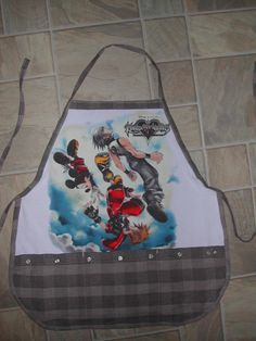 Kingdom Hearts Apron or Adult Bib by funfoodsaprons on Etsy