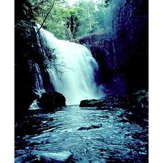 Skin and Bone Closed ❤ liked on Polyvore featuring backgrounds, nature, pictures, waterfall and water