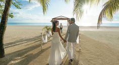 A beautiful destination wedding ceremony at Couples Swept Away in Negril, Jamaica!