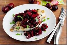 Grilled Chicken and Fresh Cherry Salsa