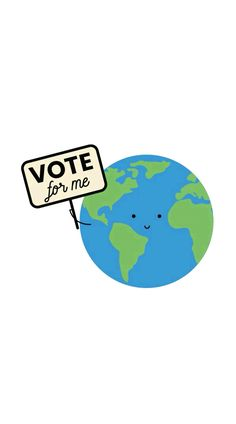 Voici des petits gifs pour voter pour le climat. Illustration élection environnement  Here are some gifs to vote for the climate. Environmental election illustration Stop Motion, Animation, Voici, Instagram Story, My Books, Gifs, Button, Digital, Anime