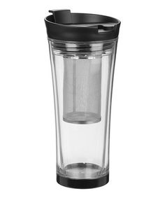 This Clear Tea-Mendous Tea Tumbler by Trudeau is perfect! #zulilyfinds