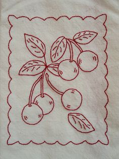 Cherry tea towel | Flickr - Photo Sharing!