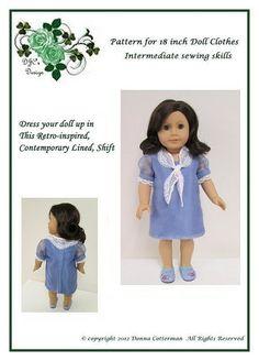 Pretty Retro Dress pattern for American Girl Doll