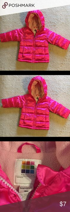 18 MONTH HOT PINK PUFFY JACKET HEALTHTEX HOT PINK PUFFY 18 MONTH GIRL'S JACKET. GREAT CONDITION. MAKE OFFERS ON BUNDLES. FLEECE LIKE INTERIOR LINING. JACKET HAS VERY NICE STRUCTURE. Healthtex Jackets & Coats Puffers