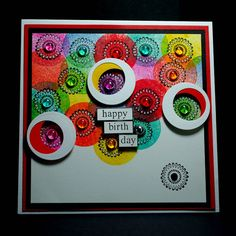 Eileen's Crafty Zone: Designs by Ryn Circle Cluster Set Stamps and Distress inks