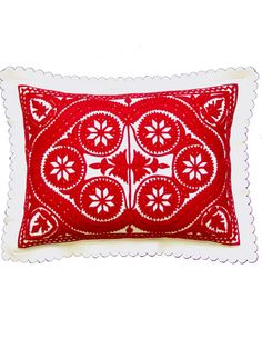 Embroidery Hungarian 12 x 16 pillow - Medieval Embroidery, Hungarian Embroidery, Folk Embroidery, Hand Embroidery Designs, Embroidery Patterns, Crochet Hook Set, Crochet Yarn, Bordados E Cia, Knitting Needle Sets