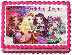 Ever After High Edible Image Cake Topper  by CakeTopperDesigns4, $11.50