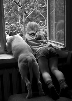 Puppy love - I wonder if I can get my dog and his boy to do this.  They're a little bigger and older than these subjects.