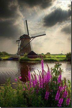 Windmill on Kinderdijk, Netherlands