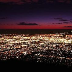 "Albuquerque Sparkle this is our view at night. the ""diamonds"" of the city and Sandia in the background. so amazing"