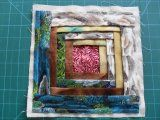 Folded log cabin quilt block with tutorial