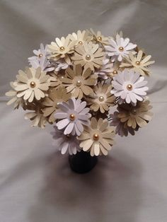 Paper daisies. paper flowers. wedding centerpiece. wedding bouquet. Ivory ombré daisies. Easter flowers. Spring flowers.