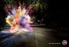 Explosive Car Ads : Fiat 'Don't Makeup and Drive'