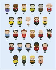 Star Trek parody alphabet sampler  Cross stitch by cloudsfactory