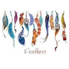 Classic Creative Dream Catcher Feather Wall Sticker Art Decal Mural * More info could be found at the image url.