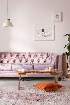 Slide View: 1: Graham Velvet Sofa