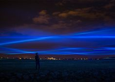 Dutch artist Daan Roosegaarde has created a light installation that is nothing short of impressive. Using blue LED beams, Roosegaarde created a display that mimics the Northern Lights. They even appear to look like waves above the heads of viewers.