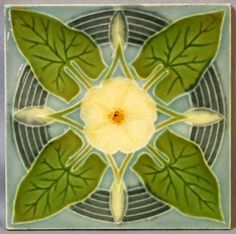 Art Nouveau Tile from Belgium by myra