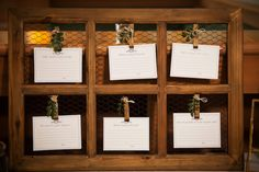 Rustic Wooden Window Frame Guestbook Notes with Clothespins and Greenery Decor | Wedding Reception Guestbook Ideas