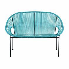 Fantastische Farbe: besondere Möbel für Balkon, Garten und Terrasse bei Maisons du Monde| blaue Gartenbank