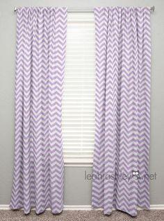Curtain Panel Lavender Chevron C1 by leahashleyokc on Etsy
