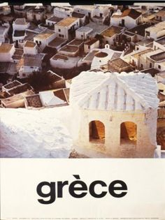 GRECE 1970~1979. Old Posters, Poster Ads, Commercial Art, Vintage Travel Posters, Greece Travel, Travel Inspiration, Past, Tourism, Travel Photography