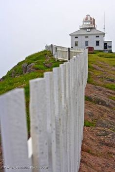 Historic Cape Spear Lighthouse Avalon Peninsula Newfoundland (most easterly point in N. Newfoundland Canada, Newfoundland And Labrador, Chateaus, Light House, Canada Travel, Cathedrals, Beautiful Islands, Fences, Castles
